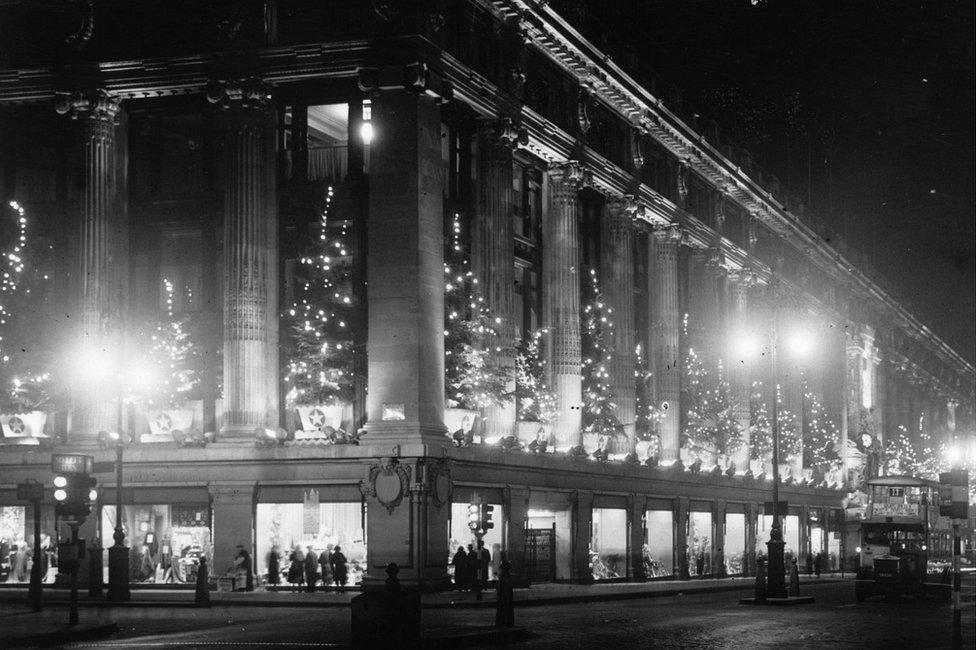 Christmas at Selfridges in 1935
