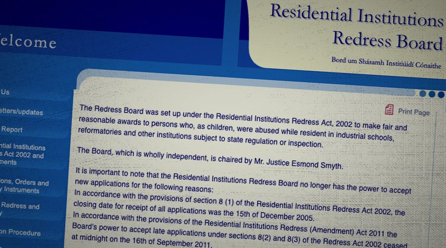 Residential Institutions Redress Board website