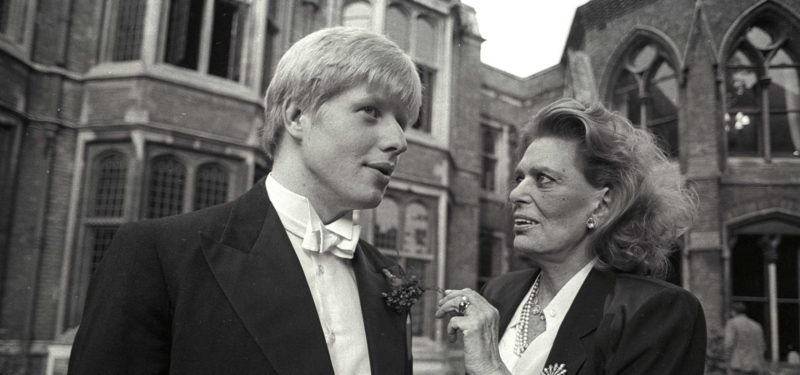 Boris Džonson, predsednik Oksfordske unije sa Melinom Merkuri