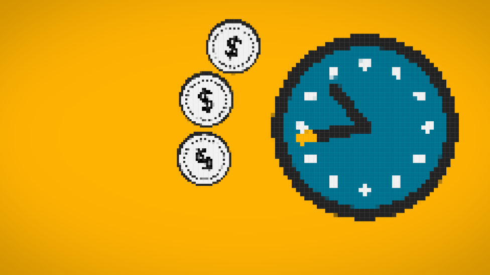 Coins around clock