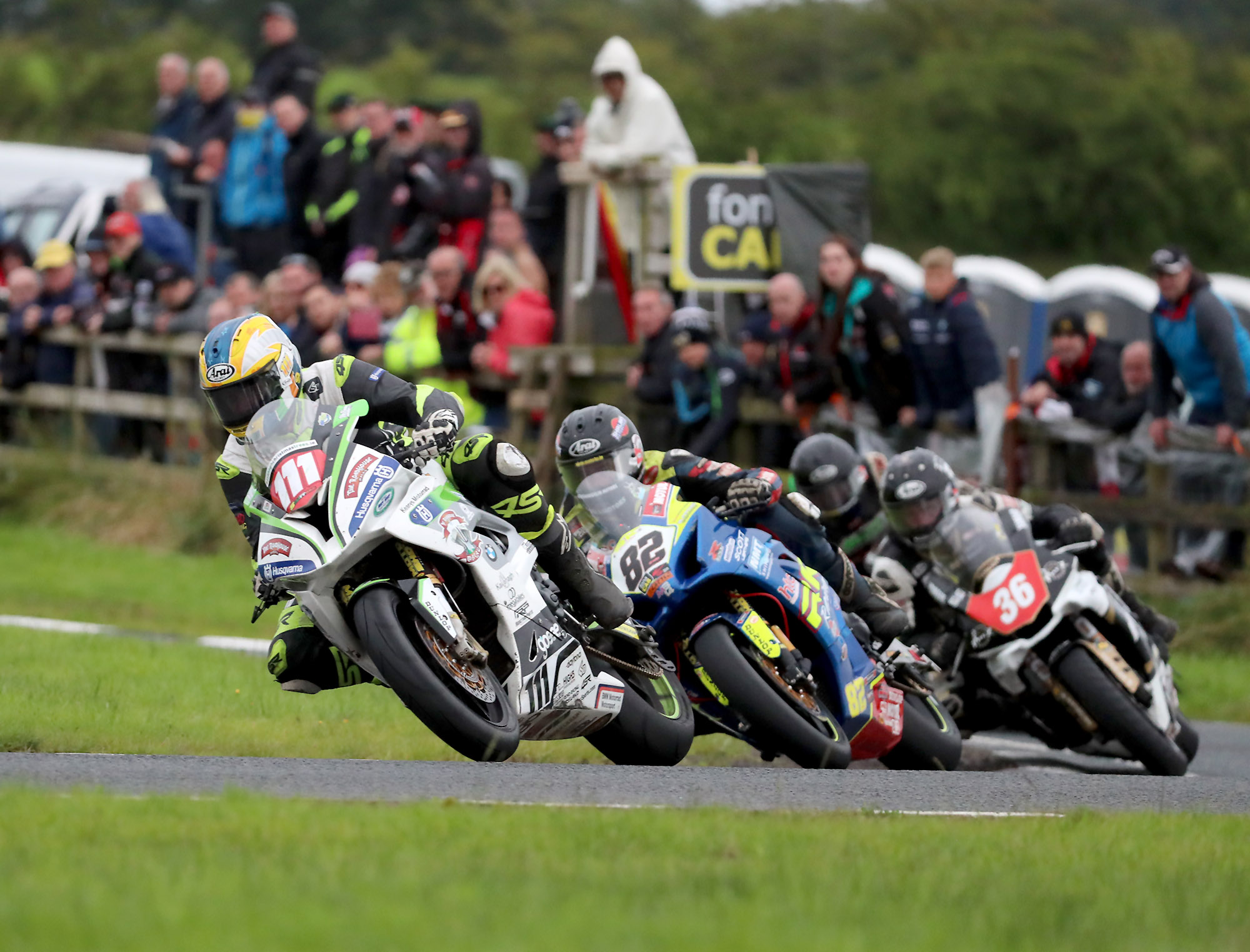 Riders at the Ulster Grand Prix