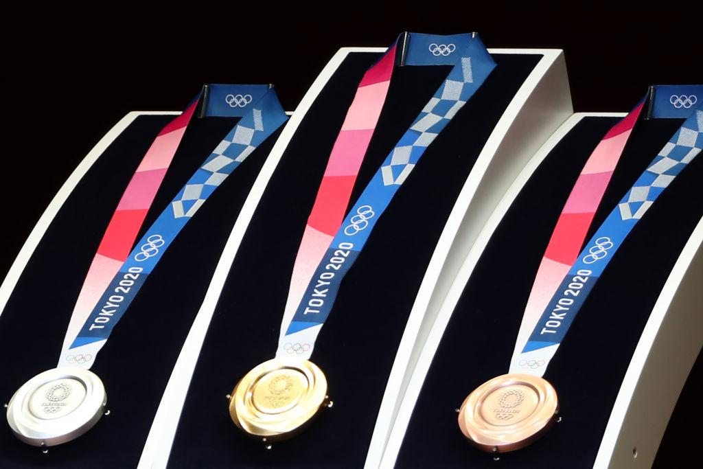 Foto de una medalla olímpica