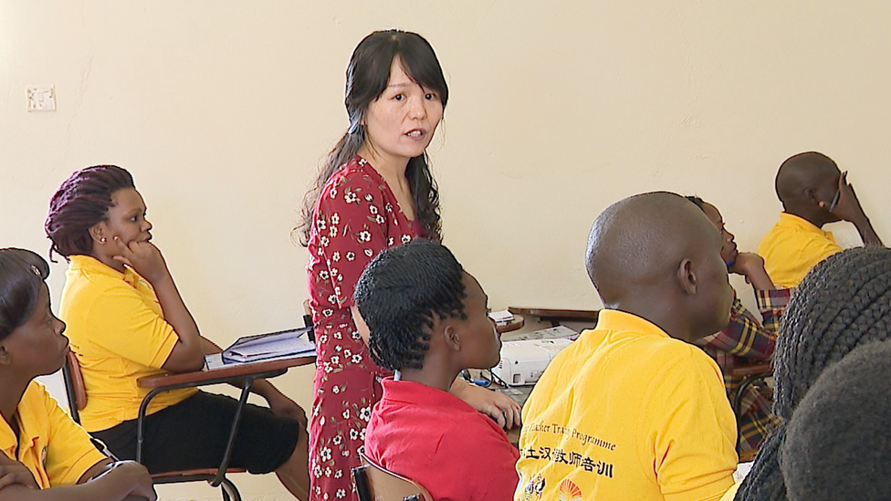 Gao Ya Hui teaching in Uganda