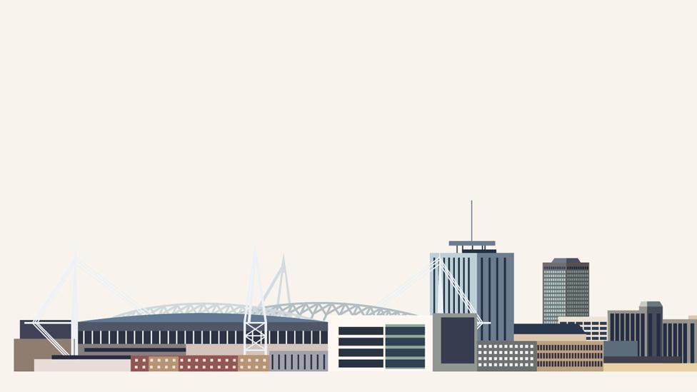Cardiff skyline graphic