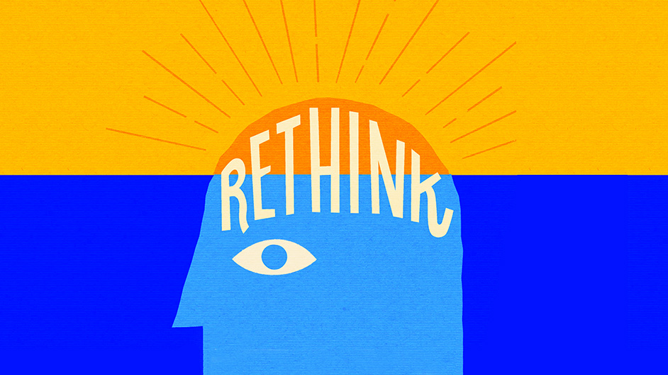 science BBC Rethink graphic - cartoon of a human head
