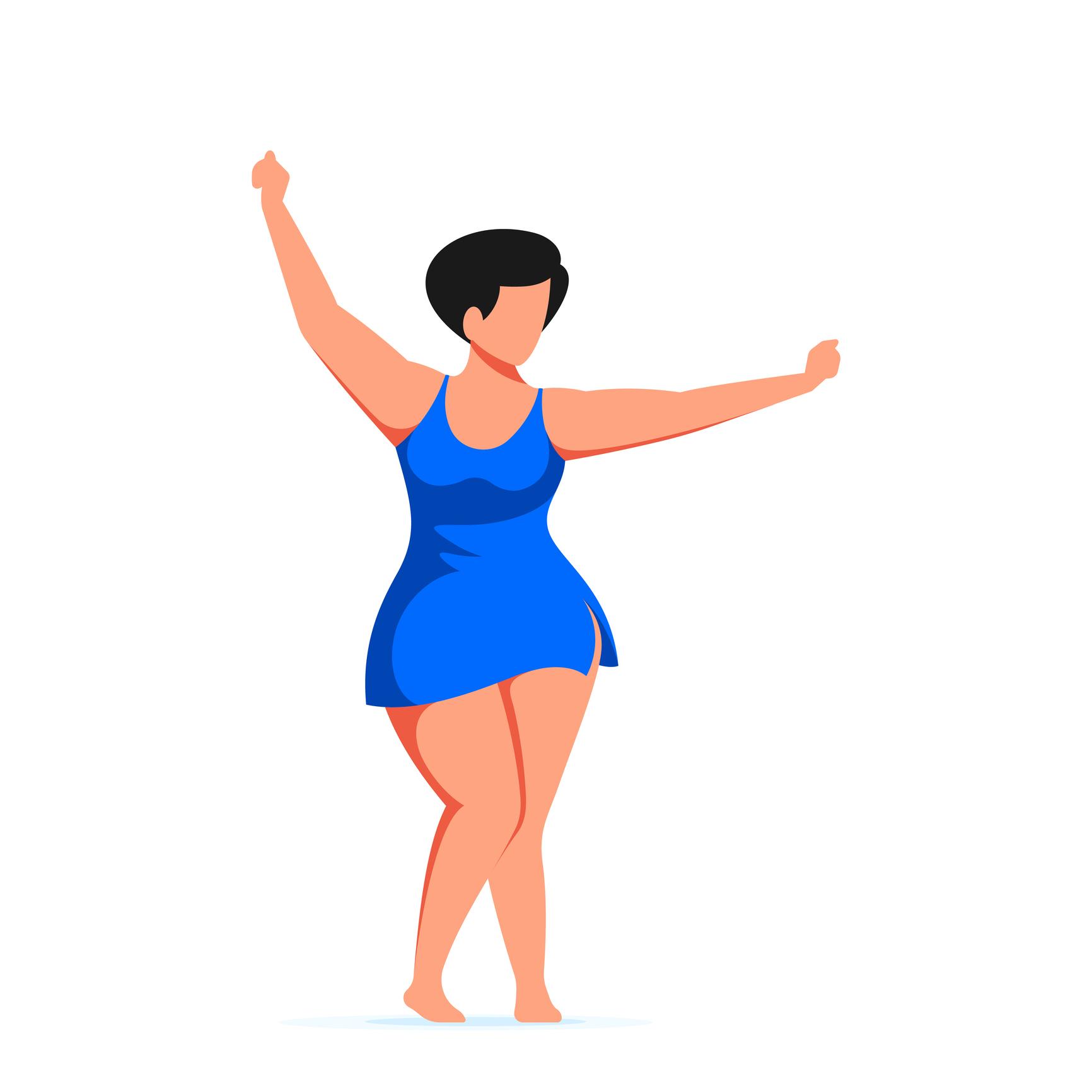 Silueta de una mujer con curvas.