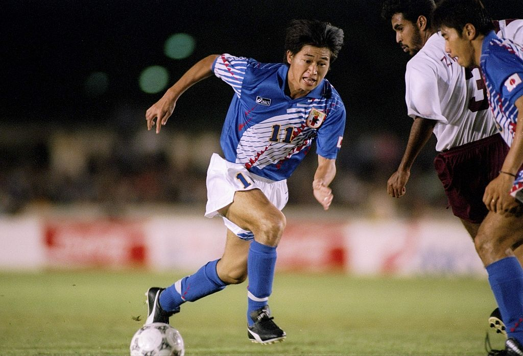 kazuyoshi Miura of Japan in action during a game against Qata