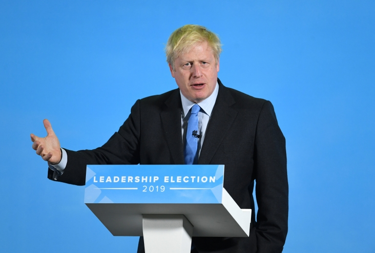 Boris Johnson at leadership hustings