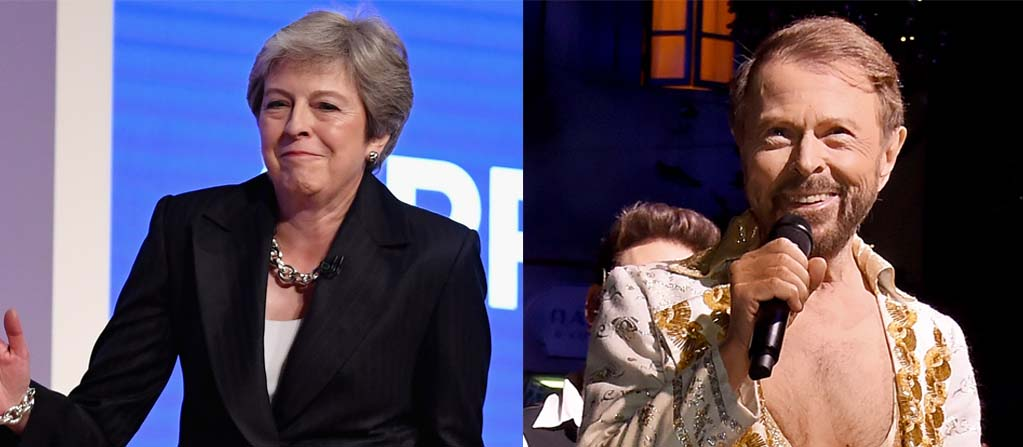 Theresa May and Abba's Bjorn Ulvaeus