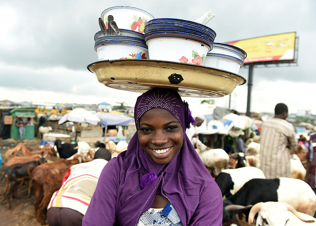 A food vendor in Nigeria