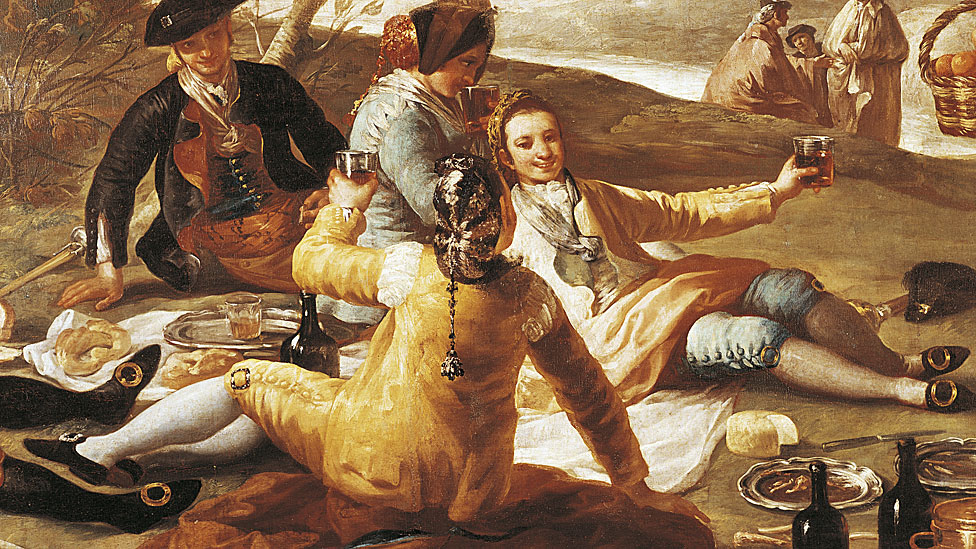 (Merienda at the Orilla del Manzanares), 1776, by Francisco de Goya (1746-1828)