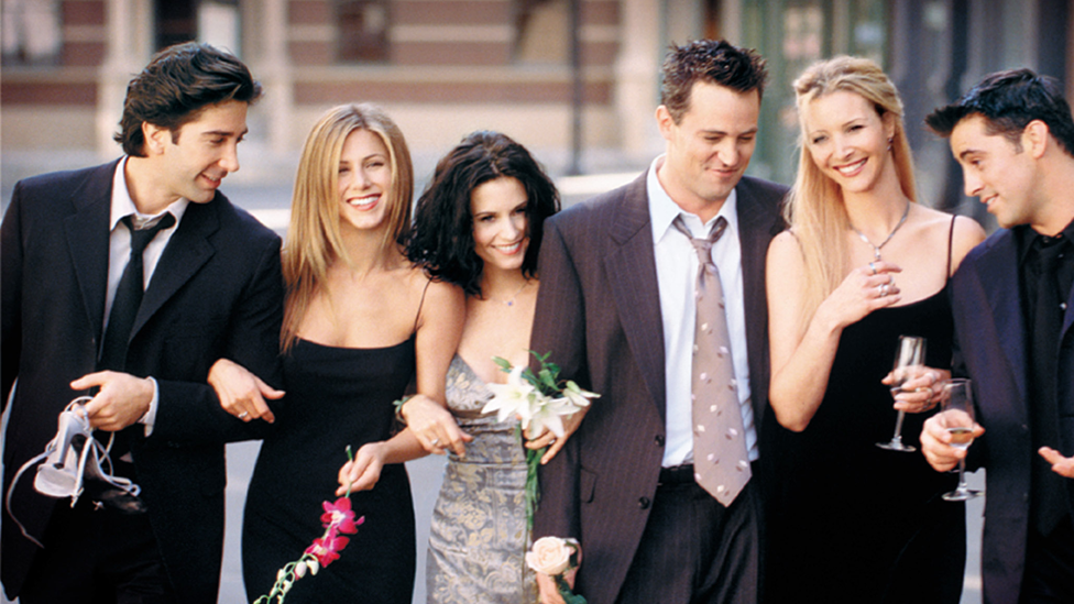 Cast of US sitcom Friends from 2001