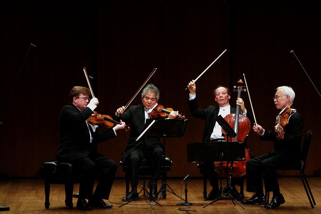 El cuarteto de Tokio interpretando a Beethoven