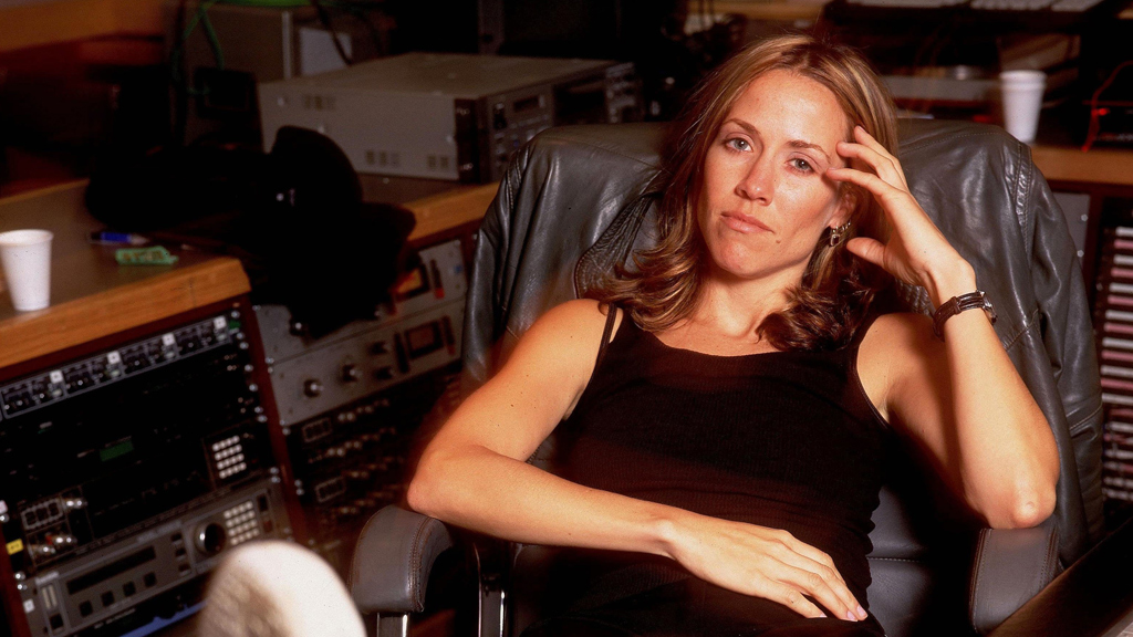Sheryl Crow in the recording studio