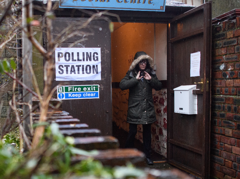 Donald Trump Polling station