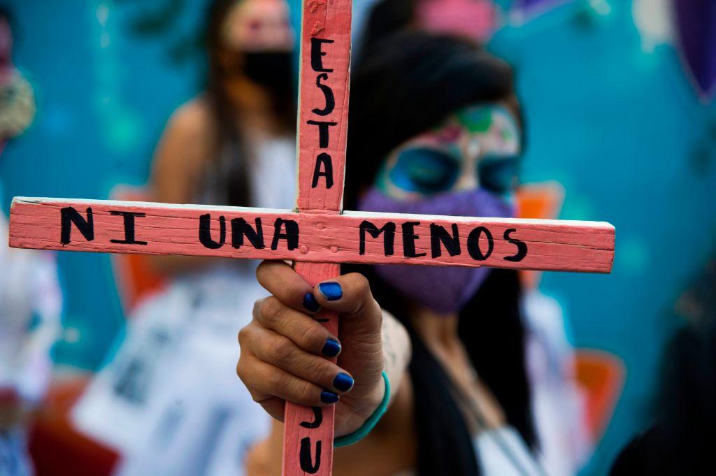 Mujeres en una protesta en contra de la violencia de género.
