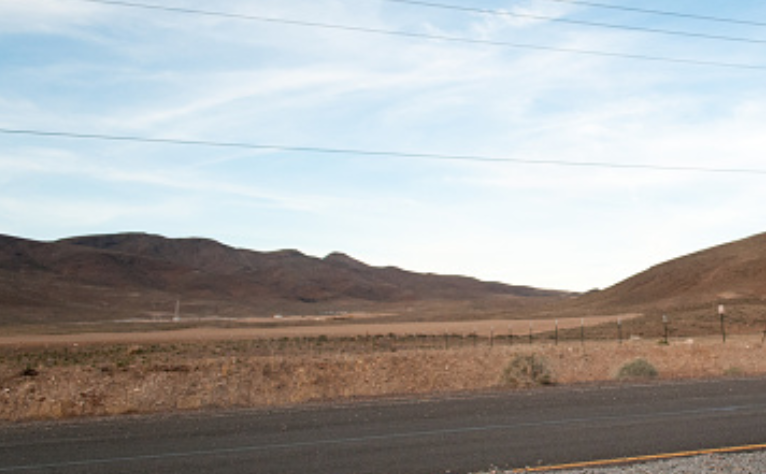 A picture of the Nevada desert.