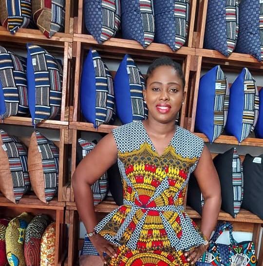 Mabel Simpson, a creative entrepreneur in Accra, Ghana