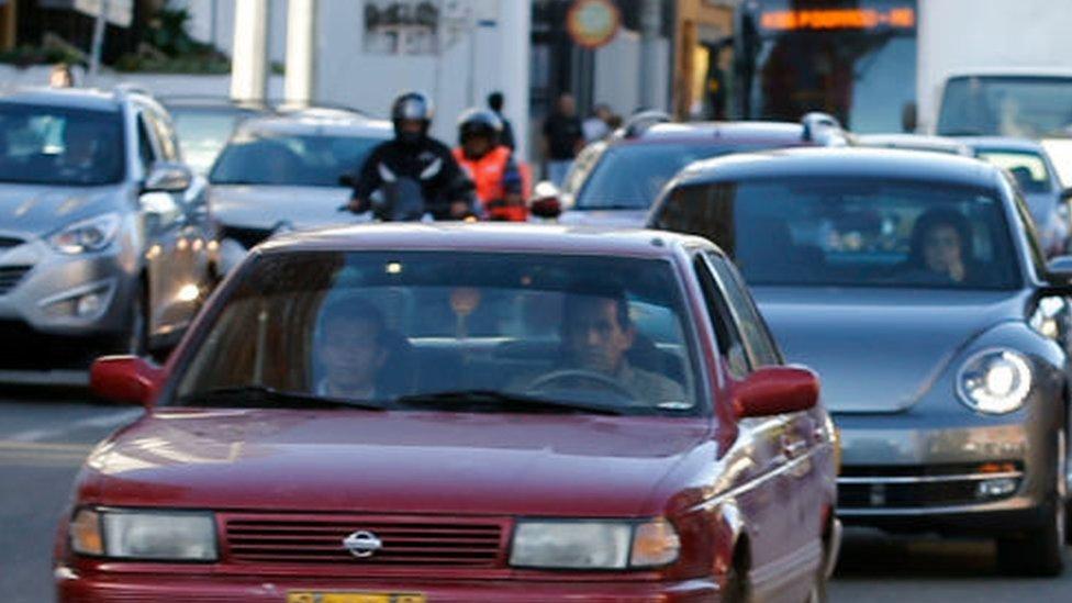 Tráfico vehicular en Bogotá