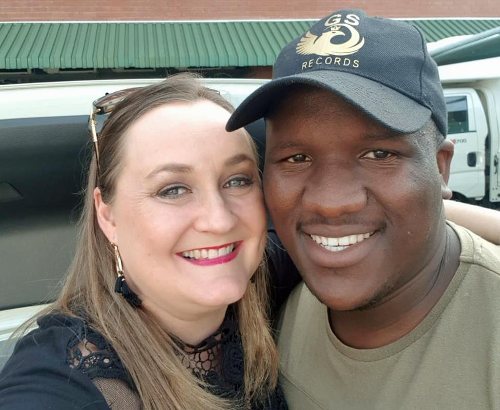 Kim Davey (L) and Menzi Mngoma (R)