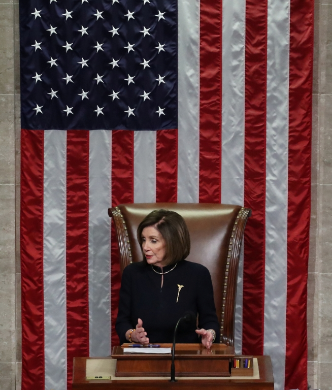trump Nancy Pelosi in the House