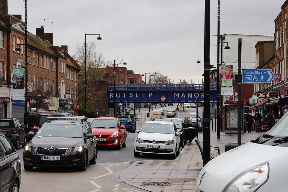 Generic view of a road in South Ruislip