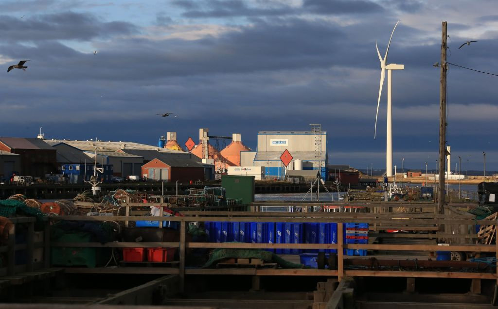 A wind turbine in Blyth