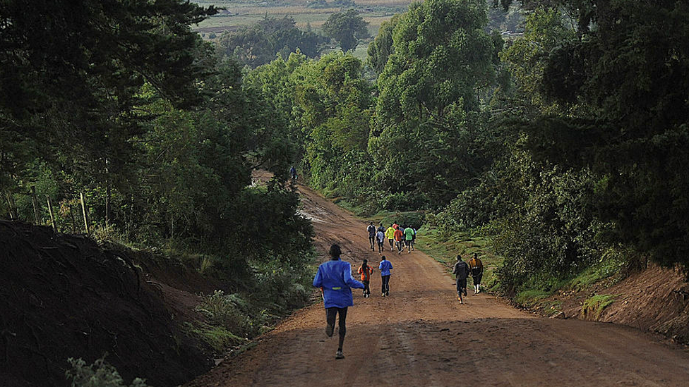 Runners in Iten in Elgeyo-Marakwet county