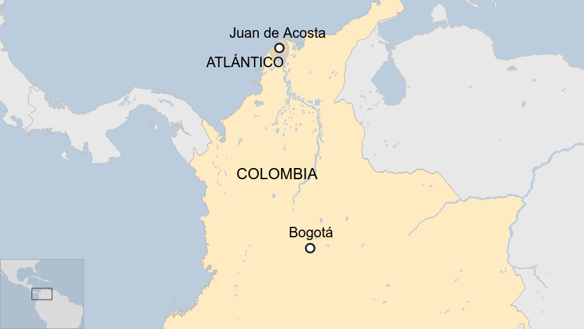 Coronavirus: Colombian mayor shops son to police for breaking lockdown