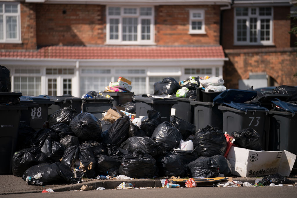 Piles of rubbish