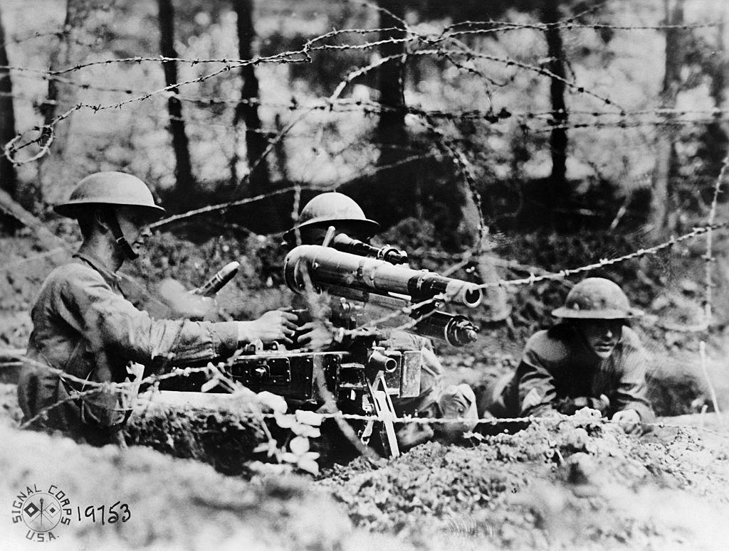 Soldados estadounidenses en la II Guerra Mundial.