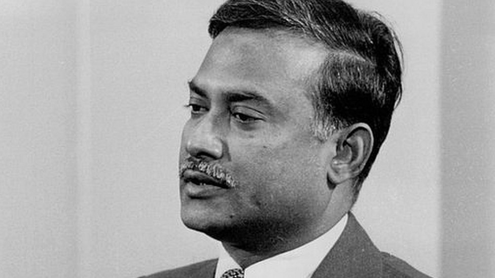Former President of Bangladesh, Major General Ziaur Rahman, during a press conference in London. February 17, 1978