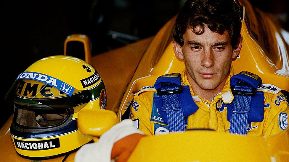 Senna en su época con Lotus.