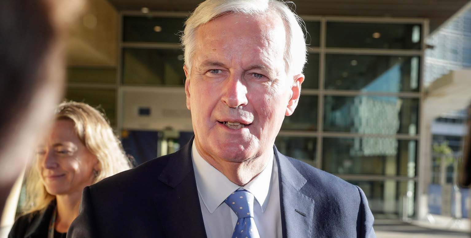 Michel Barnier following talks on Brexit