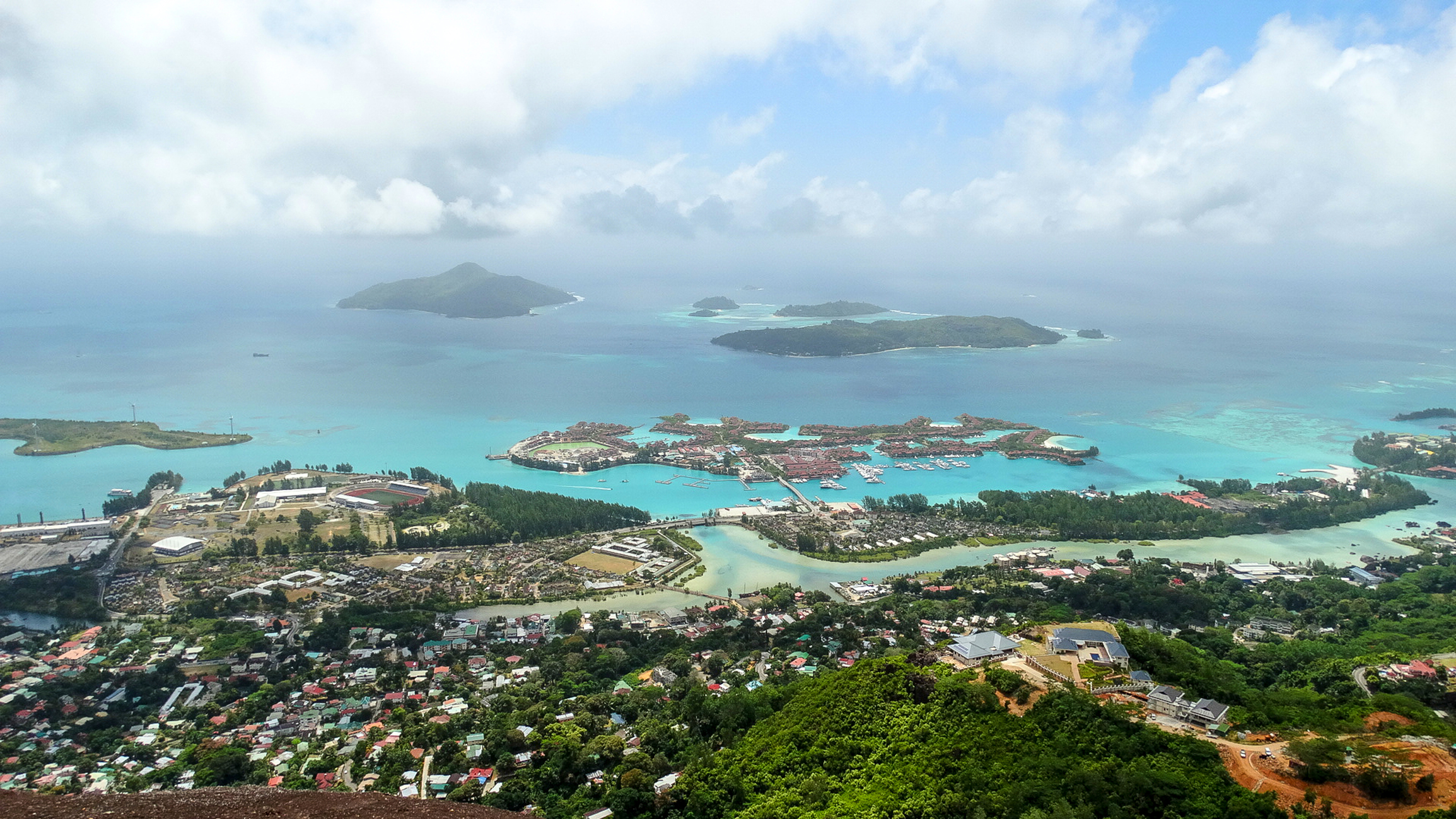View of Seychelles islands