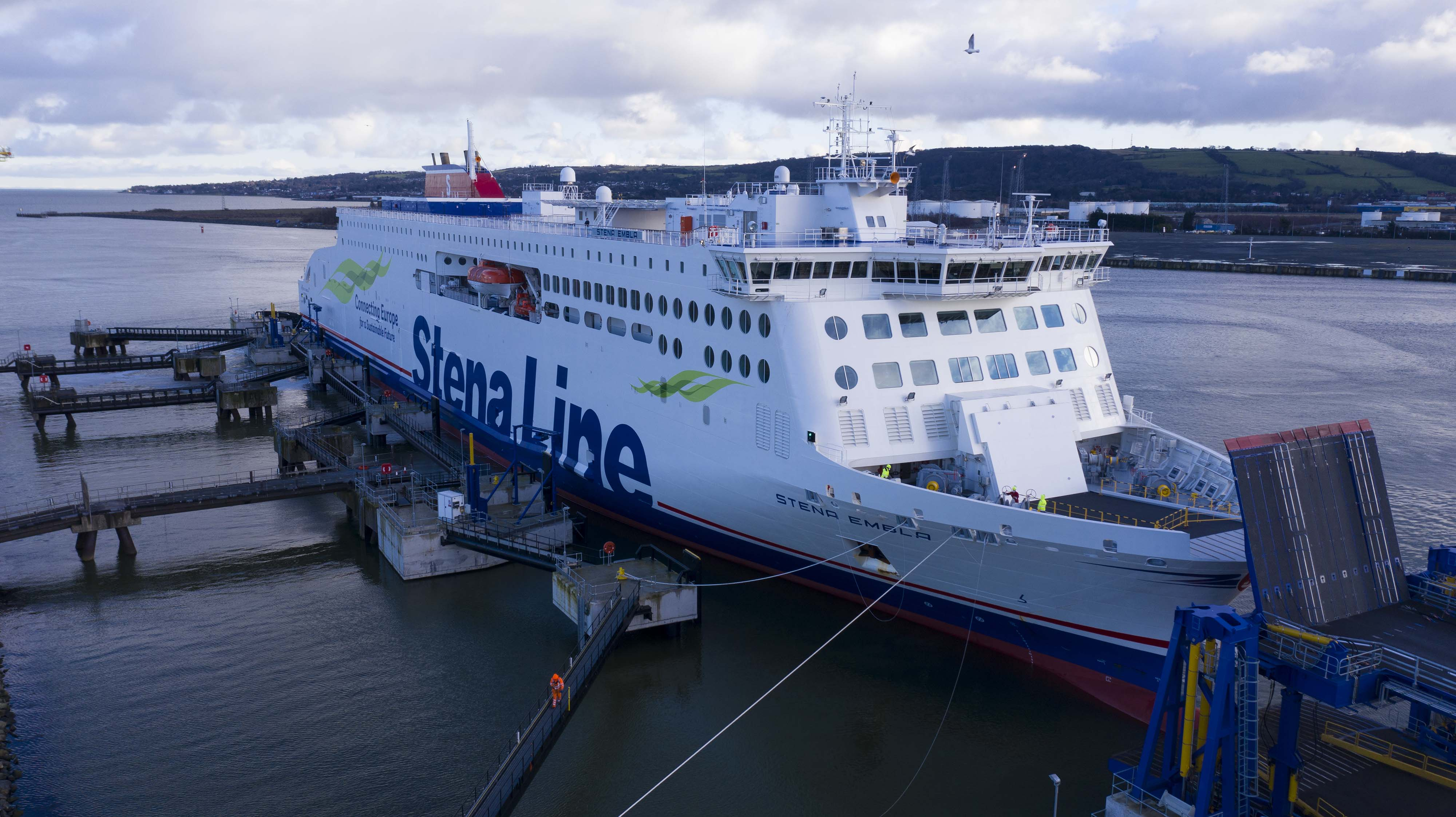 Stena Line ferry on the Rosslare to Cherbourg route
