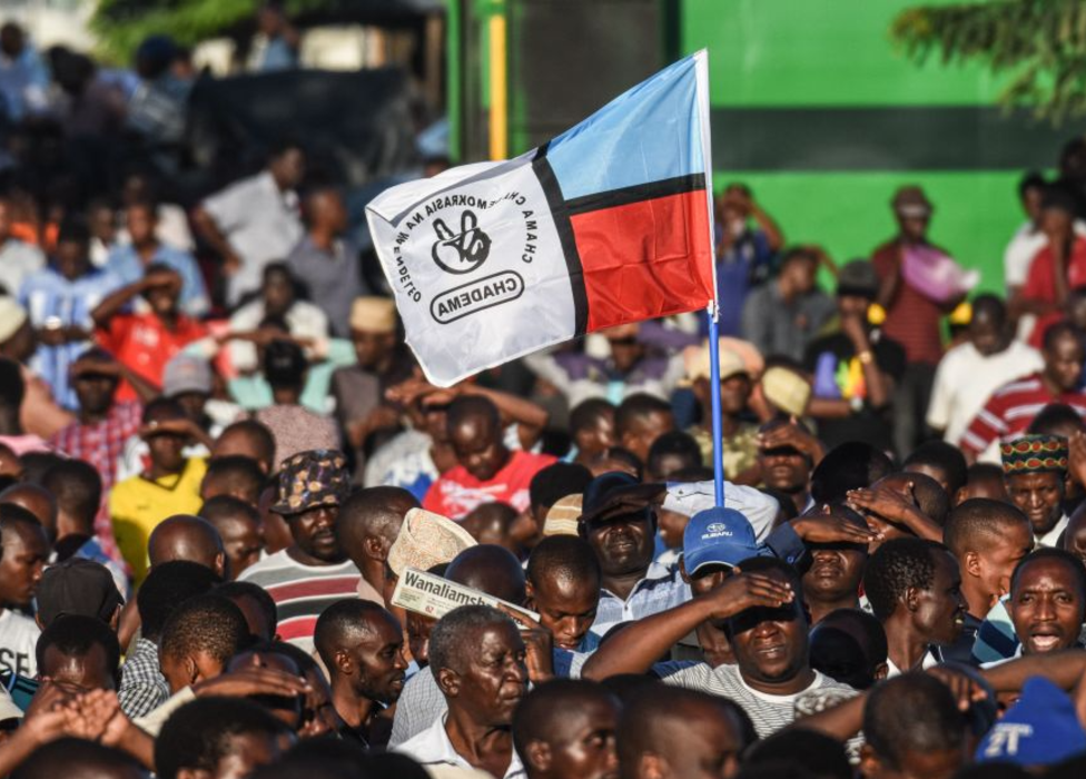 An opposition Chadema rally in Tanzania