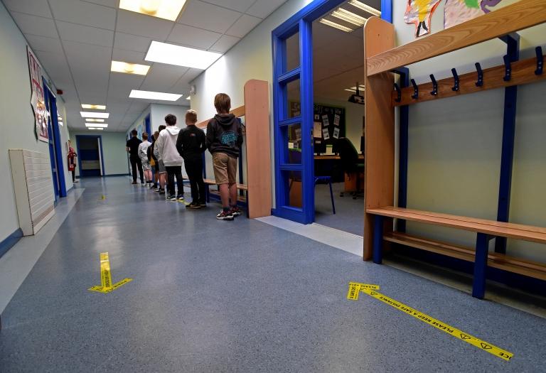 Pupils in Tenby school