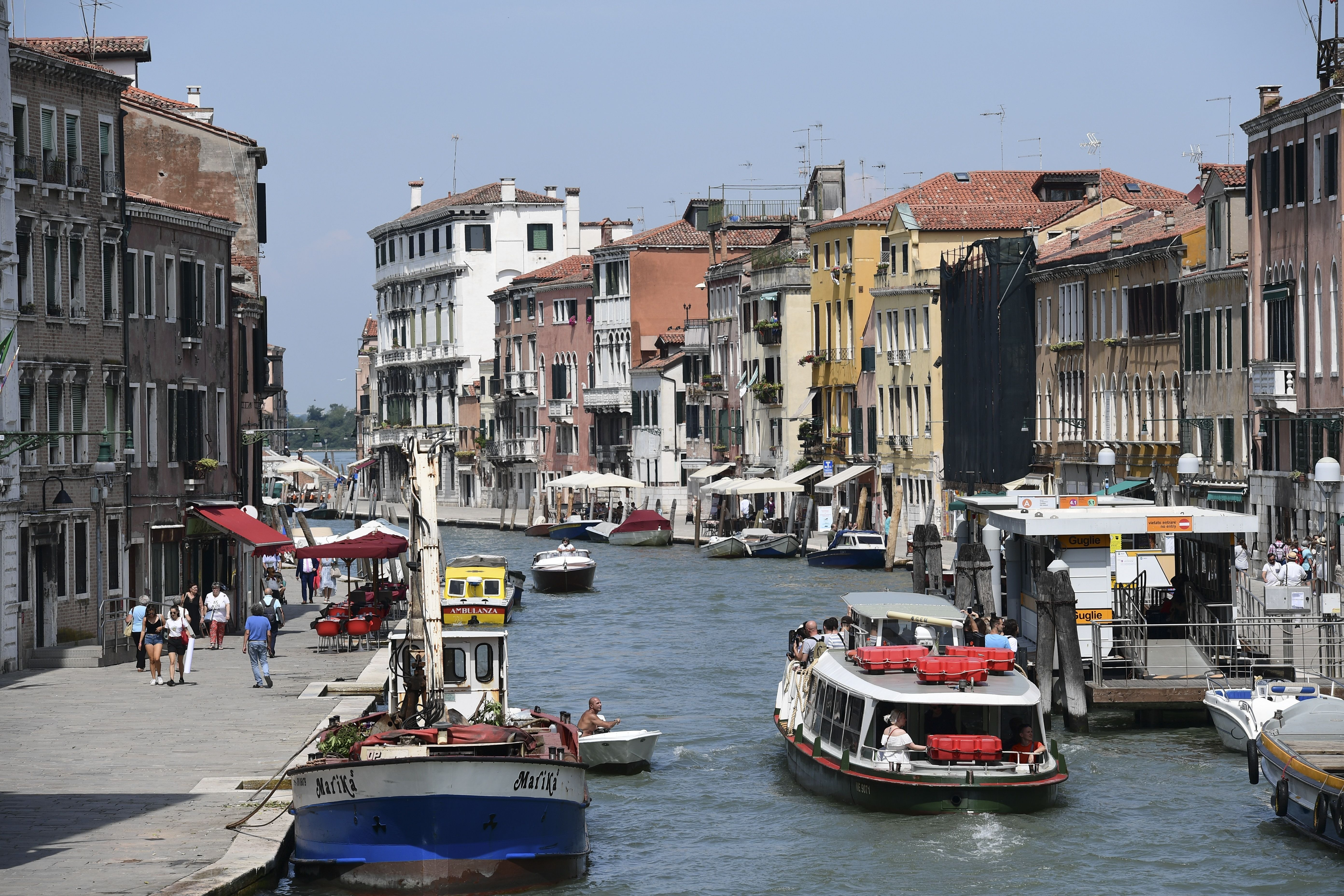 Venice  Cannaregio canal July 2019