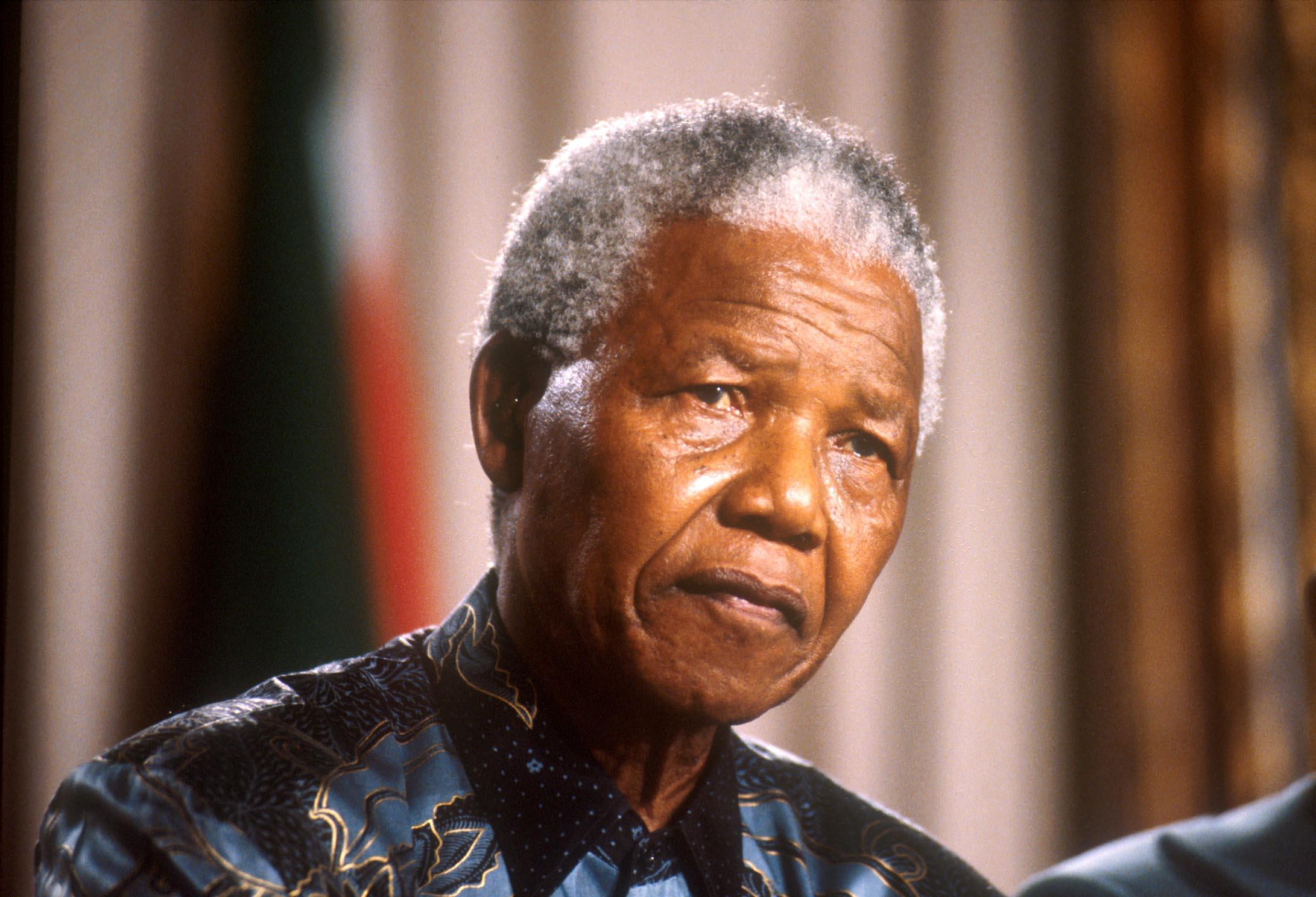 Nelson Mandela, le 01/10/1996.