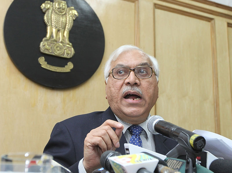 Former Chief Election Commissioner S Y Quraishi announcing the dates for the Assembly elections in 2011.