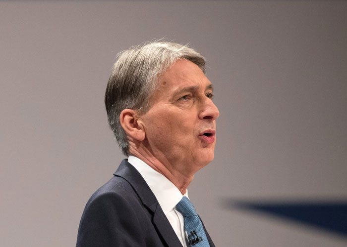 Philip Hammond at Conservative party conference, 2016