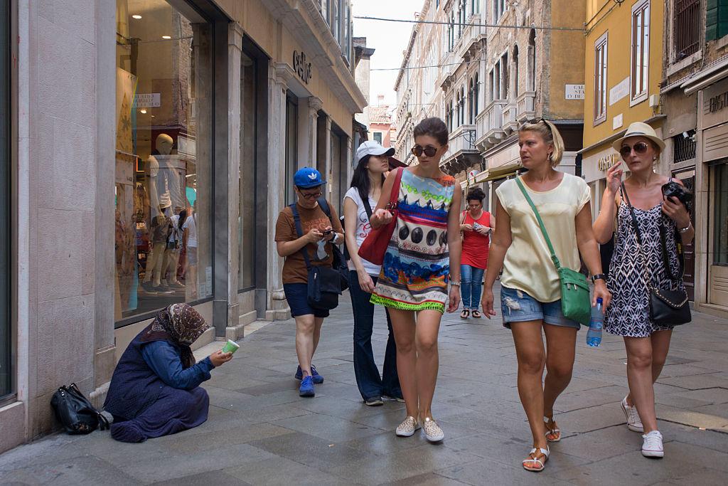 Desigualdad en Venecia, Italia.