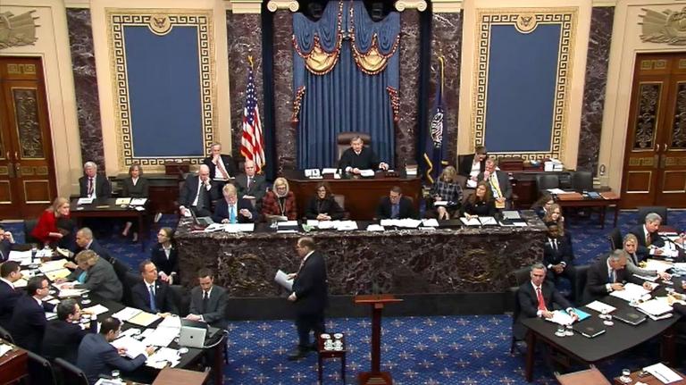 Senators voting in the US Senate