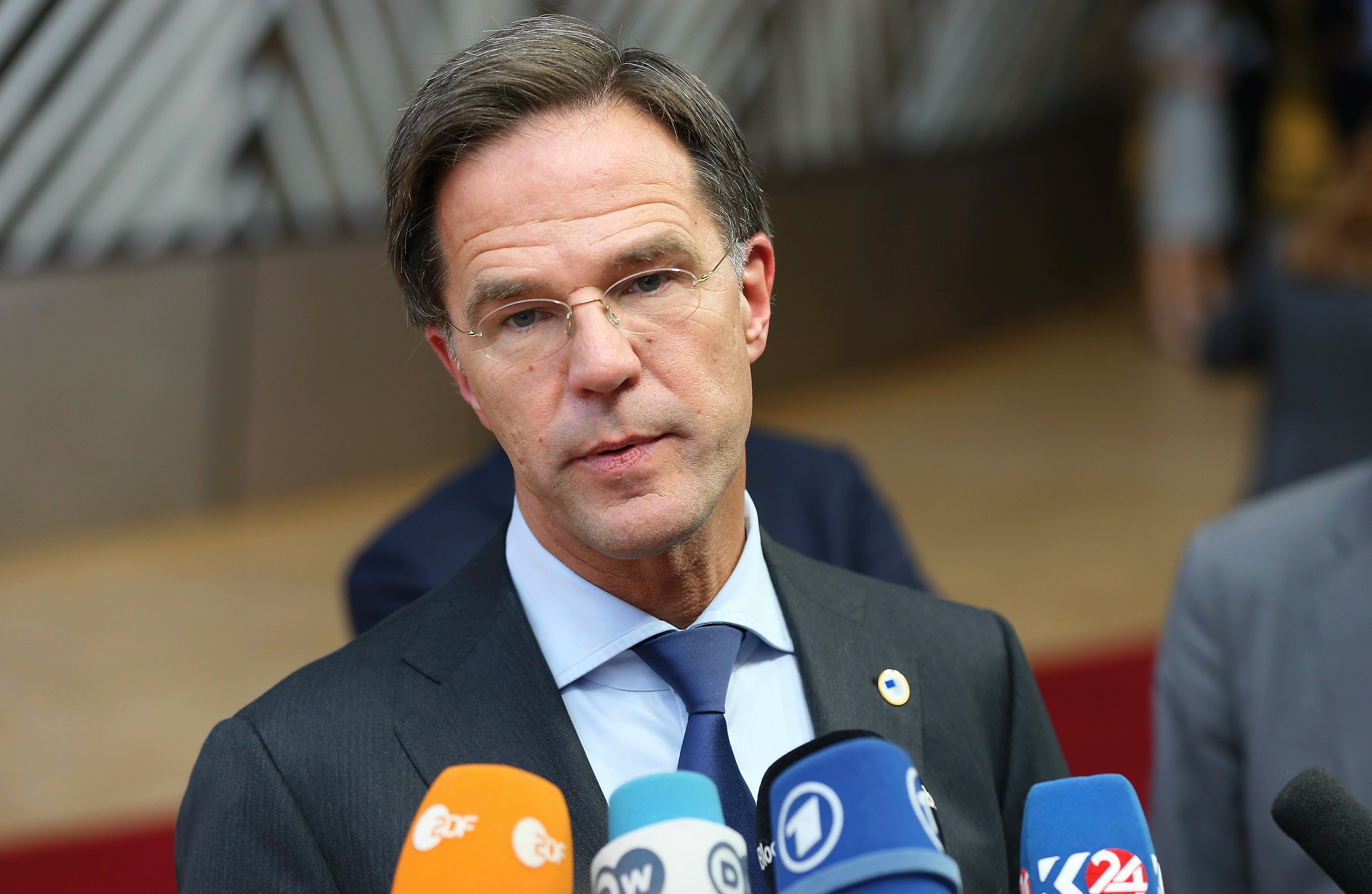 Dutch PM Mark Rutte (file pic)