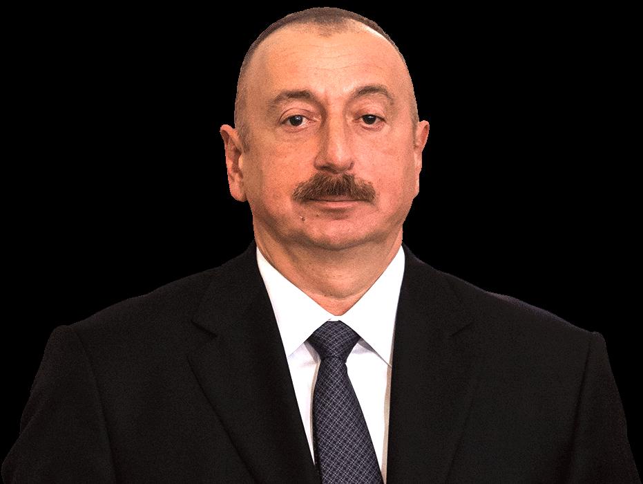 Photo of Azerbaijan President Ilham Aliyev