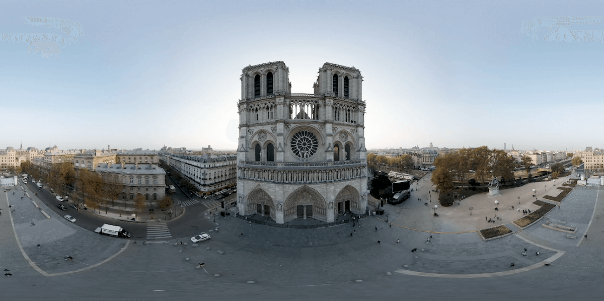 Notre-Dame before the fire in 360 video