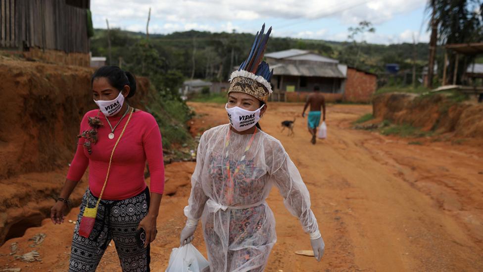 Nurse in the Amazon near Manaus