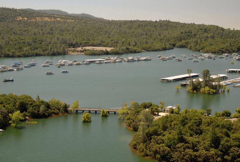 Photo of Bidwell Marina, Lake Oroville, California in July 2011