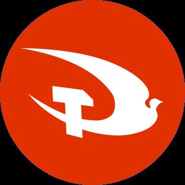 Plaid Gomiwnyddol Prydain party logo